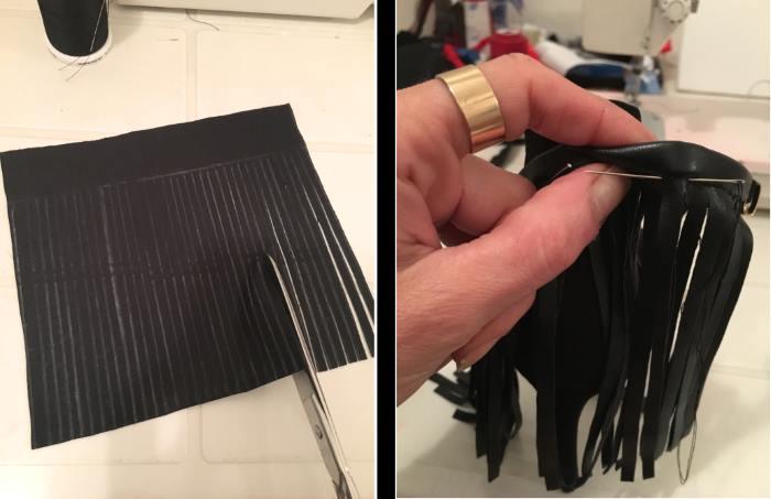 tutorial per sandali con frange