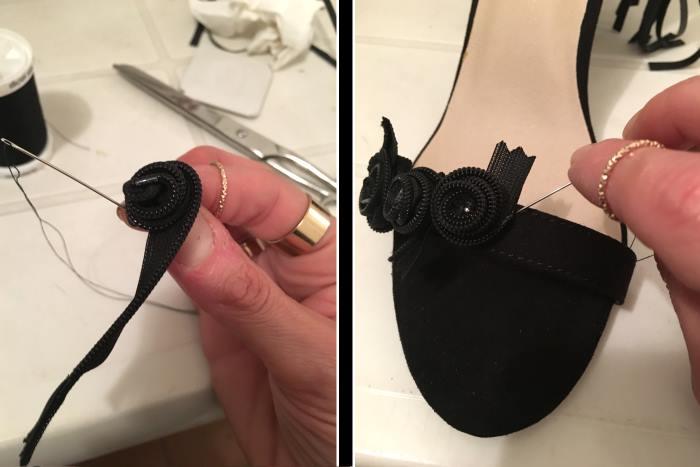 passaggi per tutorial sandali fashion