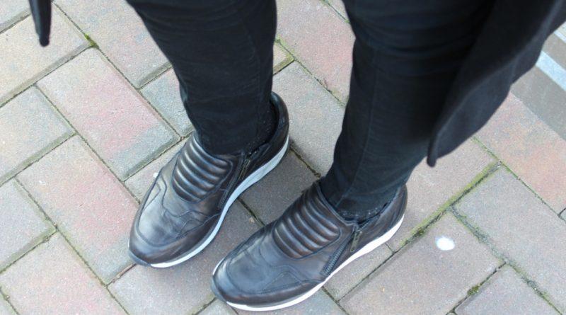 abinare sneakers con cappotto